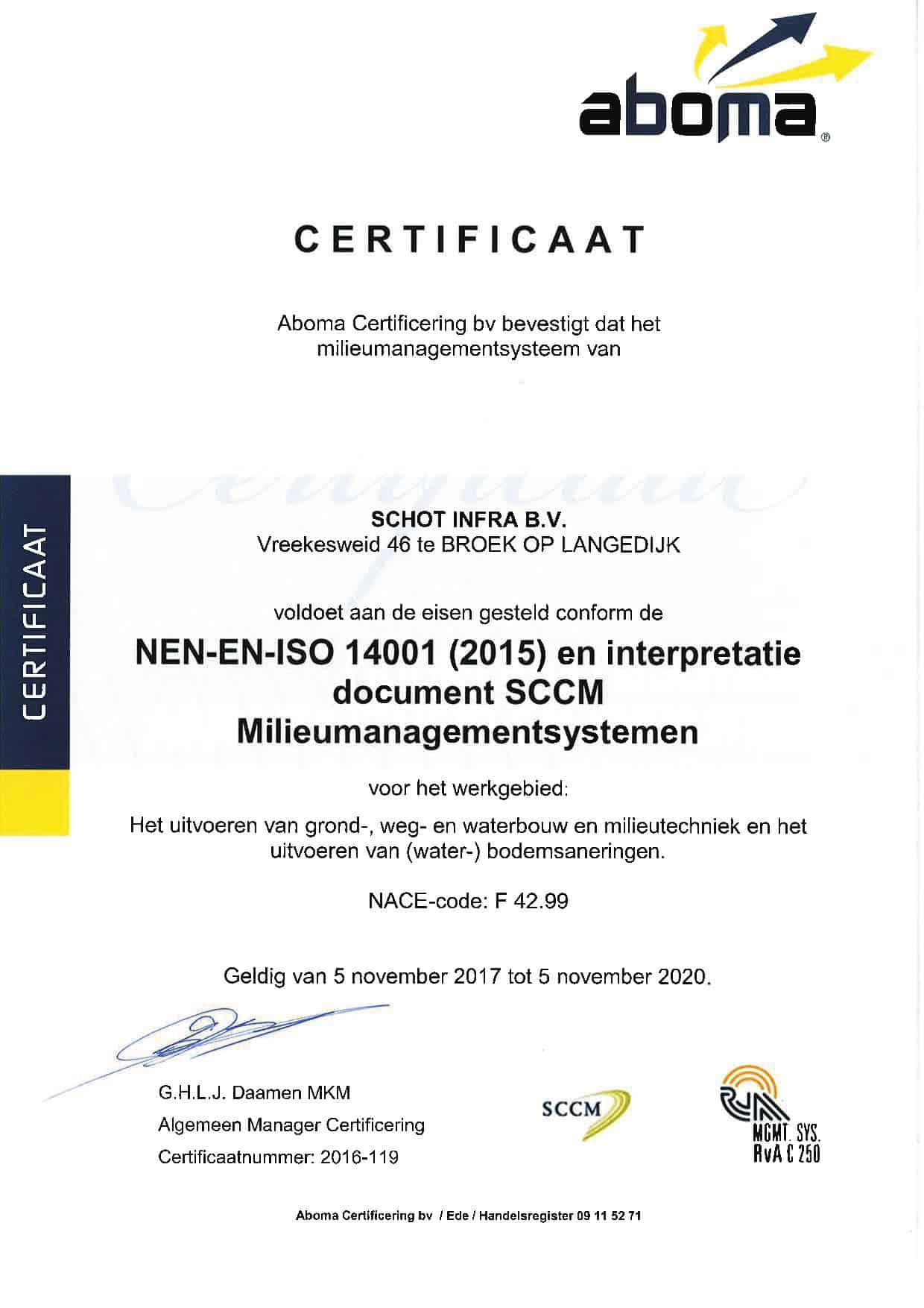 NEN-EN-ISO 14001 tot 05-11-2020