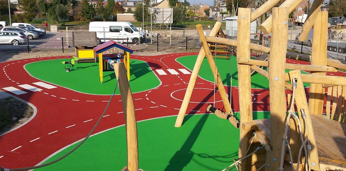 Aanleg speelplaats speelterrein door Schot Infra
